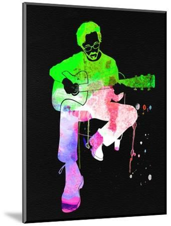 Eric Clapton Stone Watercolor-Lana Feldman-Mounted Art Print