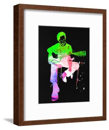 Eric Clapton Stone Watercolor-Lana Feldman-Framed Art Print
