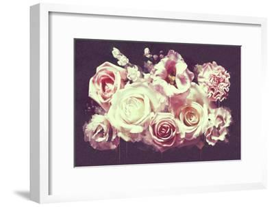 White Roses--Framed Art Print