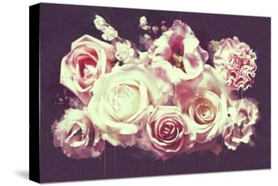White Roses--Stretched Canvas Print