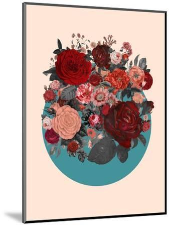 Red Floral Collage--Mounted Art Print