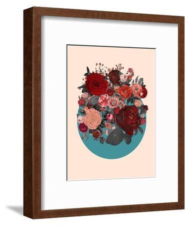 Red Floral Collage--Framed Art Print