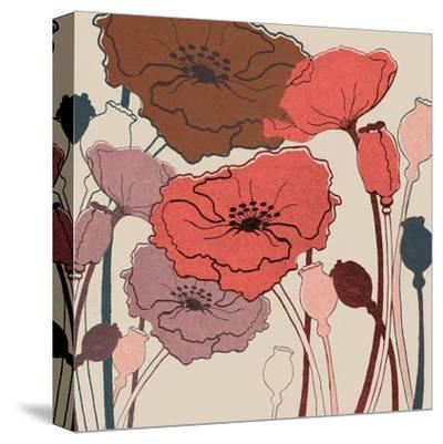 Pink Poppies--Stretched Canvas Print