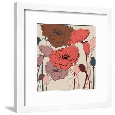 Pink Poppies--Framed Art Print