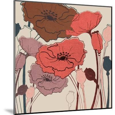 Pink Poppies--Mounted Art Print