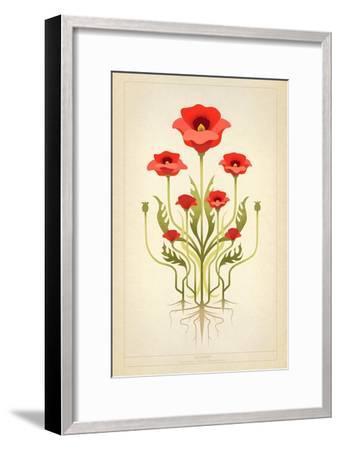 Red Poppies--Framed Art Print