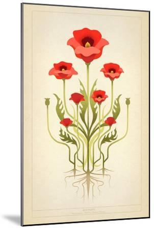 Red Poppies--Mounted Art Print