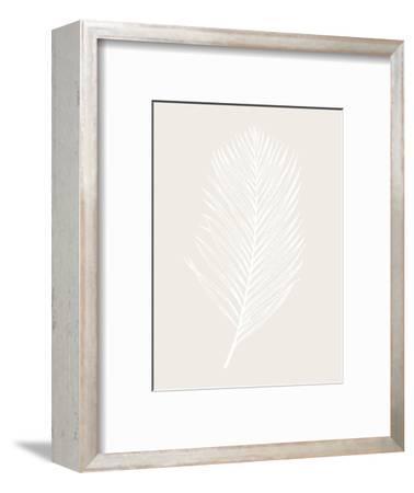 White Leaf-Design Fabrikken-Framed Art Print