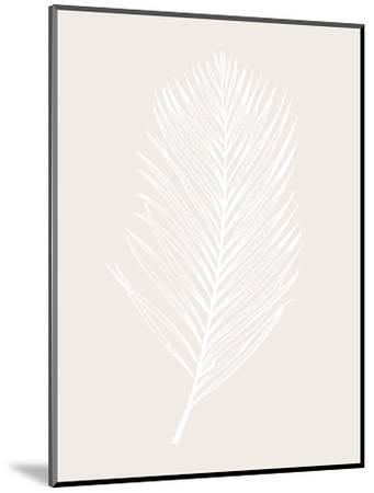 White Leaf-Design Fabrikken-Mounted Art Print