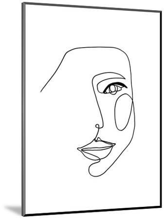 Face Line 1-Design Fabrikken-Mounted Art Print
