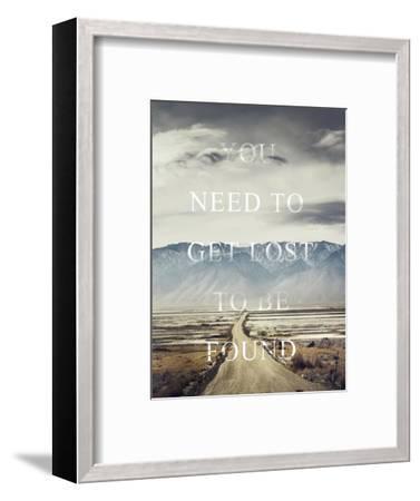 Get Lost-Design Fabrikken-Framed Premium Giclee Print