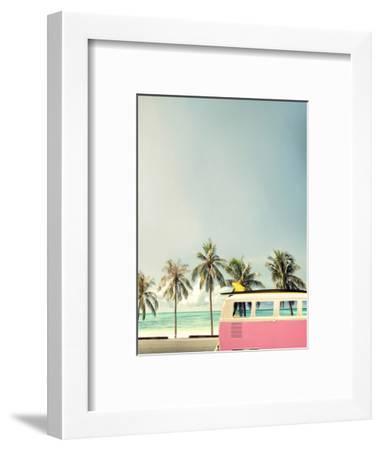 Surf Bus Pink-Design Fabrikken-Framed Photographic Print
