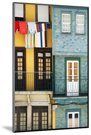 Welcome to Portugal Collection - Colorful Facades in Porto-Philippe Hugonnard-Mounted Photographic Print