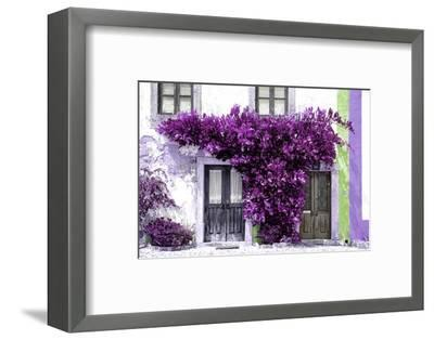 Welcome to Portugal Collection - Old Portuguese House facade with Purple Colors-Philippe Hugonnard-Framed Photographic Print
