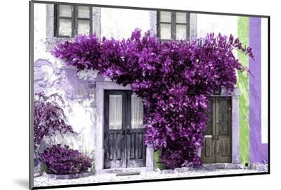 Welcome to Portugal Collection - Old Portuguese House facade with Purple Colors-Philippe Hugonnard-Mounted Photographic Print