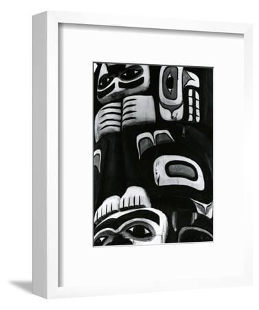 Totem Pole Detail, Alaska, c. 1970-Brett Weston-Framed Photographic Print