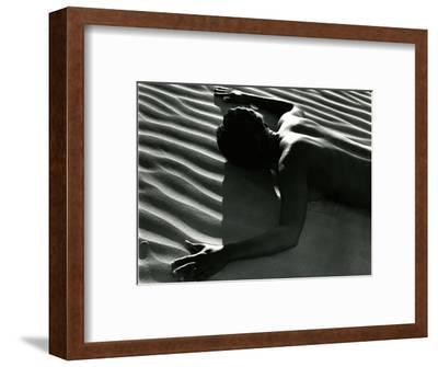Classic Nude and Dune, 1981-Brett Weston-Framed Photographic Print