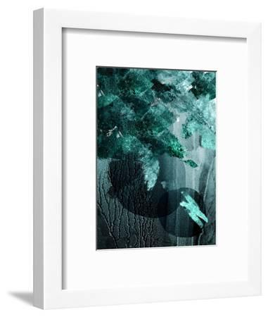 Teal Abstract A-Urban Epiphany-Framed Art Print