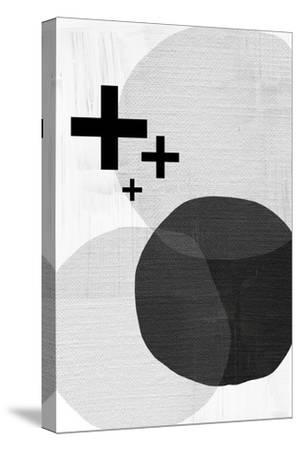 Black White Scandi Modern-Urban Epiphany-Stretched Canvas Print