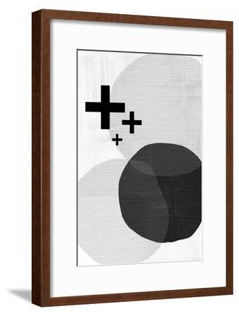 Black White Scandi Modern-Urban Epiphany-Framed Art Print
