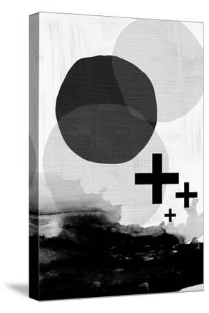 Black White Scandi Abstract-Urban Epiphany-Stretched Canvas Print