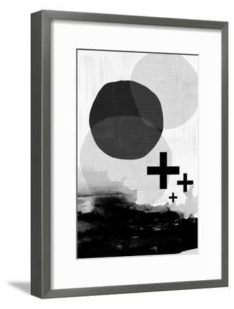 Black White Scandi Abstract-Urban Epiphany-Framed Art Print