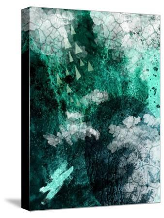 Teal Abstract B-Urban Epiphany-Stretched Canvas Print