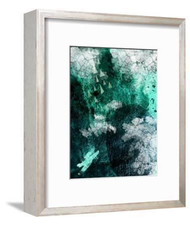 Teal Abstract B-Urban Epiphany-Framed Art Print