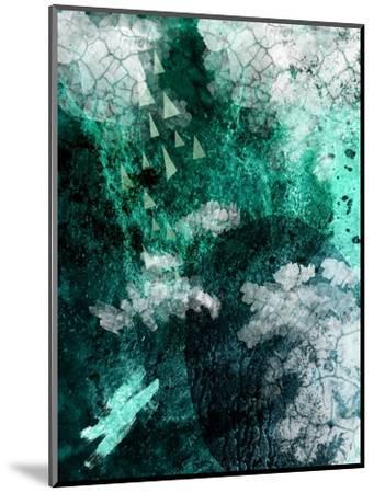 Teal Abstract B-Urban Epiphany-Mounted Art Print