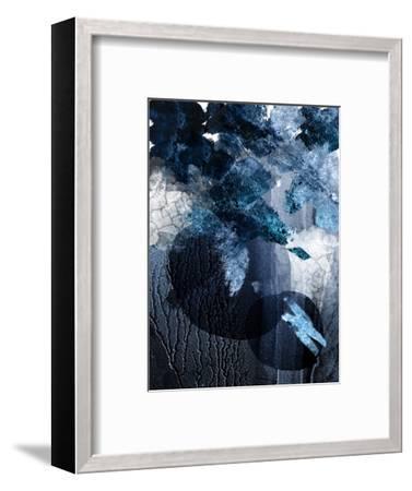 Abstract Navy White 1-Urban Epiphany-Framed Art Print