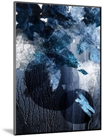 Abstract Navy White 1-Urban Epiphany-Mounted Art Print