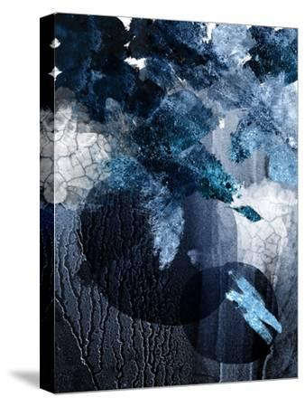 Abstract Navy White 1-Urban Epiphany-Stretched Canvas Print