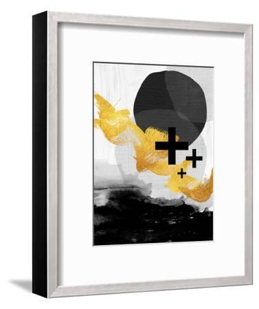 Scandi Black White Gold-Urban Epiphany-Framed Art Print