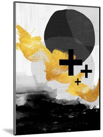 Scandi Black White Gold-Urban Epiphany-Mounted Art Print