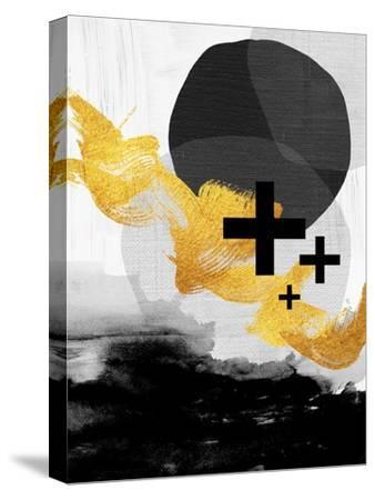 Scandi Black White Gold-Urban Epiphany-Stretched Canvas Print