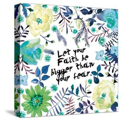 Floral Bigger Faith-Victoria Brown-Stretched Canvas Print