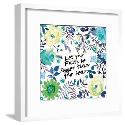 Floral Bigger Faith-Victoria Brown-Framed Art Print