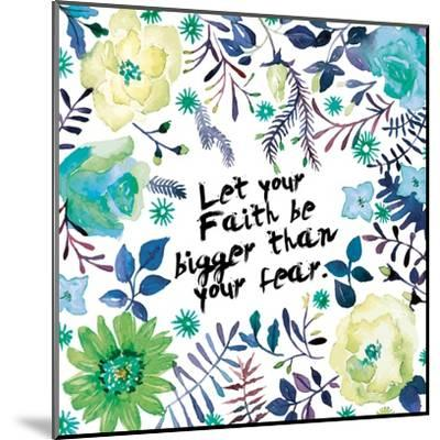 Floral Bigger Faith-Victoria Brown-Mounted Art Print