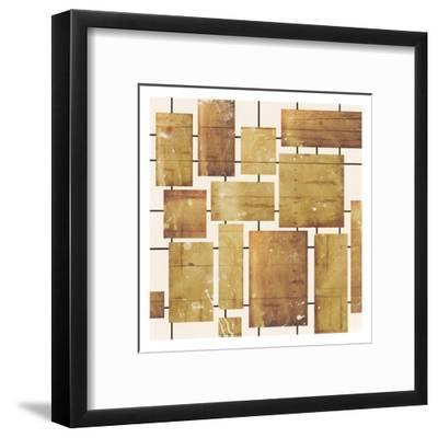 Wood Blocks-Jace Grey-Framed Art Print