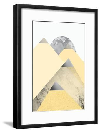 Yellow and Grey Mountains 2-Urban Epiphany-Framed Art Print