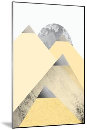 Yellow and Grey Mountains 2-Urban Epiphany-Mounted Art Print