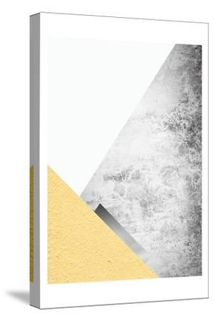 Yellow and Grey Mountains 3-Urban Epiphany-Stretched Canvas Print