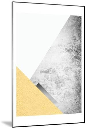 Yellow and Grey Mountains 3-Urban Epiphany-Mounted Art Print