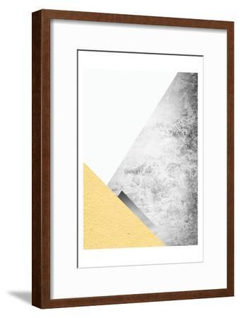 Yellow and Grey Mountains 3-Urban Epiphany-Framed Art Print