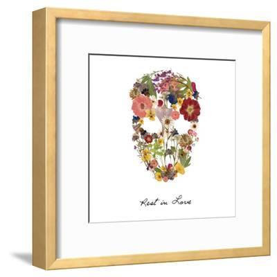 Flowerskull 2-Victoria Brown-Framed Art Print