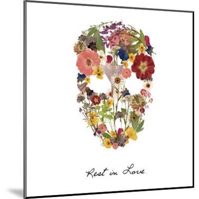 Flowerskull 2-Victoria Brown-Mounted Art Print