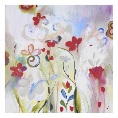 Ethereal Edge-Daisy D-Stretched Canvas Print