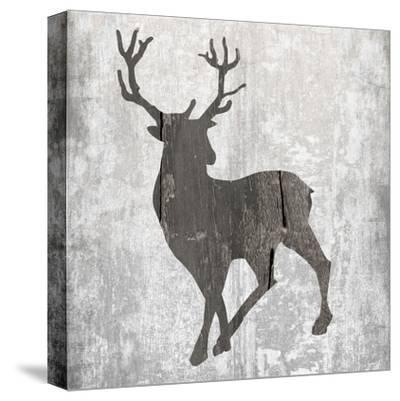 Buck Hunt Gray-Sheldon Lewis-Stretched Canvas Print