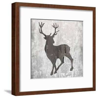 Buck Hunt Gray-Sheldon Lewis-Framed Art Print