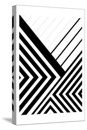 BW Geo Lines 3-Urban Epiphany-Stretched Canvas Print